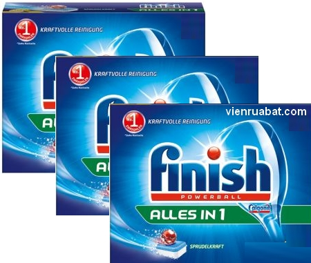 ảnh viên rửa bát finish alles in one made in Germany 156 viên